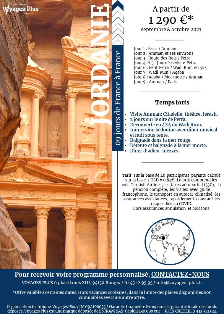 Newsletter Jordanie Voyage Plus
